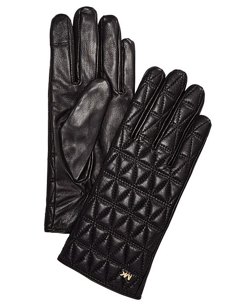 Michael Kors Quilted Leather Gloves - Handbags   Accessories - Macy s ad9a4061663