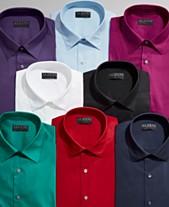 844279b73a AlfaTech by Alfani Men s Solid Classic Regular Fit Dress Shirt