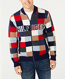 Tommy Hilfiger Men's Graph Logo Appliqué Full-Zip Cardigan, Created for Macy's