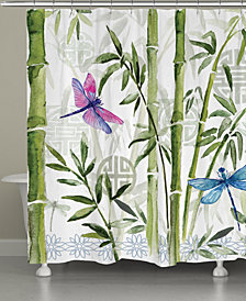 Bamboo Dragonflies Shower Curtain