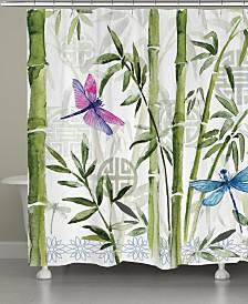 Bamboo Dragonflies Shower Curtain