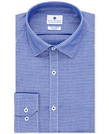 Ryan Seacrest Distinction™ Men's Ultimate Slim-Fit Non-Iron Performance Stretch Pattern Dress Shirt, Created for Macy's