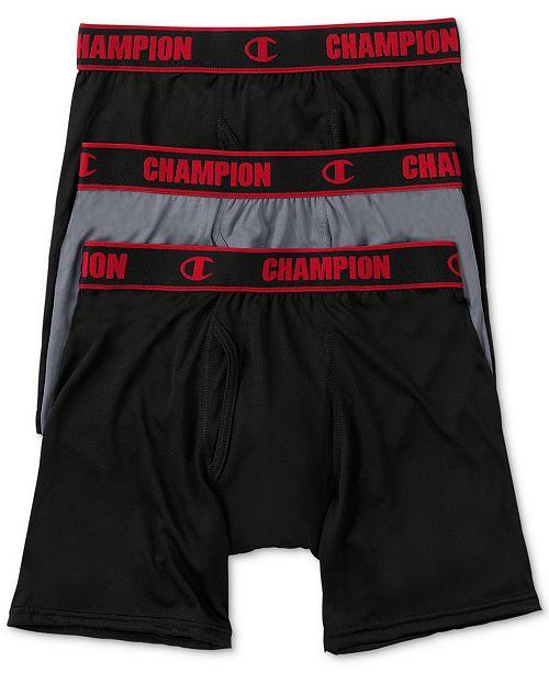 9545f4e4aeca Champion Men's 3-Pk. Performance Boxer Briefs & Reviews ...