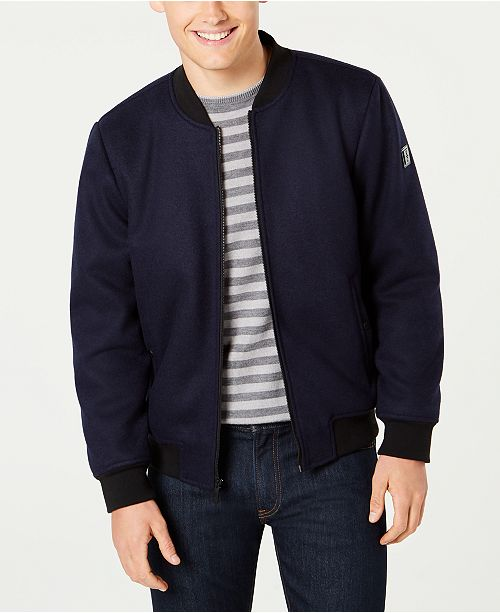 bece0ca69 Kenneth Cole Men's Wool Bomber Jacket & Reviews - Coats ...