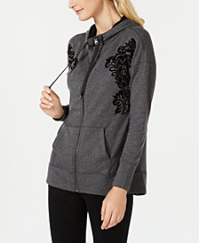 Ideology Flocked Zip Hoodie, Created for Macy's