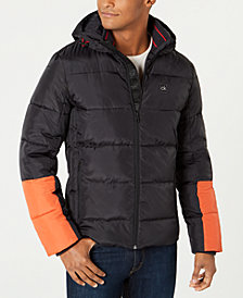 Calvin Klein Men's Colorblocked Puffer Coat