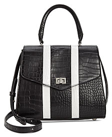 Steve Madden Andi Croco Satchel With Stripes