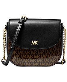 MICHAEL Michael Kors Signature Glossy Half Dome Crossbody, Created for Macy's