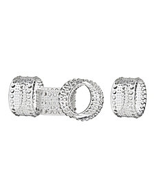 Godinger Lumina Napkin Rings, Set of 4