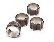 Godinger Napkin Rings, Set of 4