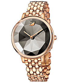 Swarovski Women's Rose Gold-Tone Bracelet Watch 35mm