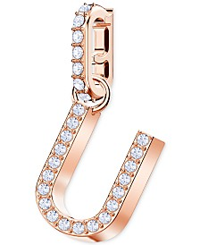 Swarovski Remix Collection Rose Gold-Tone Pavé Alphabet Charm