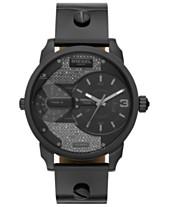 a297612fd14 Diesel Women s Mini Daddy Gunmetal Leather Strap Watch 46mm