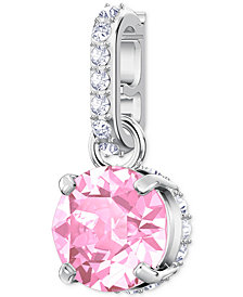 Swarovski Remix Collection Silver-Tone Pavé & Stone Charm