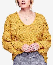 Free People Crashing Waves Open-Knit Sweater