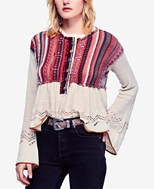 1b3855f6c8 Free People Meadow Lakes Bell-Sleeve Sweater