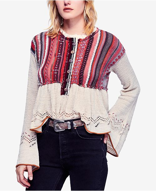 01a58663e Free People Meadow Lakes Bell-Sleeve Sweater   Reviews - Sweaters ...