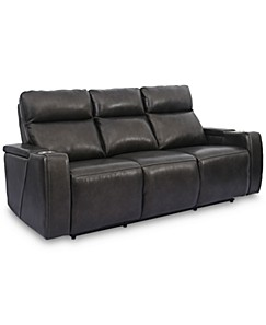 Tremendous Grey Leather Sofa Macys Machost Co Dining Chair Design Ideas Machostcouk