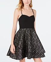 0ca205e1e880 Sequin Hearts Juniors  Bonded Lace Fit   Flare Dress