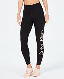 Calvin Klein Performance Metallic-Logo High-Waist Leggings