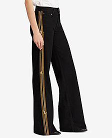 Polo Ralph Lauren Striped Wide-Leg Jeans