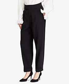 Polo Ralph Lauren Satin-Trim Straight Pants