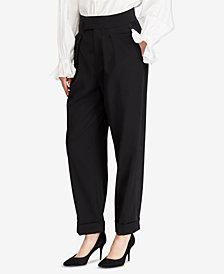 Polo Ralph Lauren Satin-Trim Straight Pants