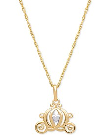 "Children's Carriage 15"" Pendant Necklace in 14k Gold"