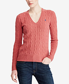 Polo Ralph Lauren V-Neck Wool-Cashmere Blend Sweater