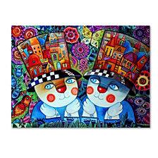 Oxana Ziaka 'Twins' Canvas Art Collection