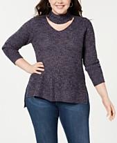 Planet Gold Trendy Plus Size Cutout Sweater 863a66c97