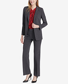 Tommy Hilfiger One-Button Blazer, Knot-Neck Blouse & Bootcut Pants