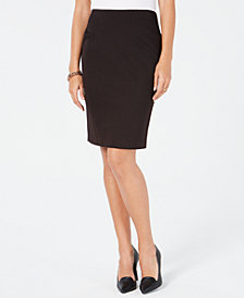 Tommy Hilfiger Textured Pindot Pencil Skirt