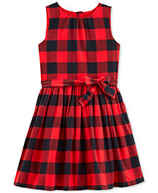 Carter's Little & Big Girls Buffalo-Check Flannel Dress
