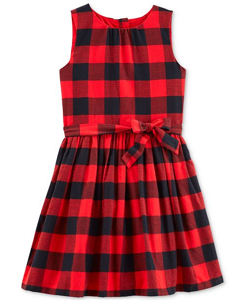 b0eacd6cf Carter's Little & Big Girls Buffalo-Check Flannel Dress & Reviews ...