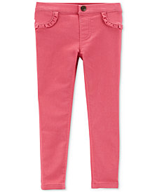 Carter's Toddler Girls Ruffle-Trim Denim Leggings