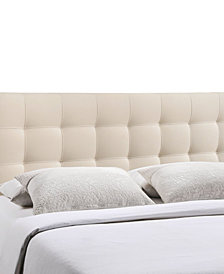 Lily King Upholstered Fabric Headboard