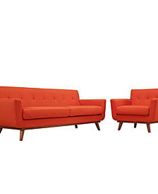 Engage Armchair and Sofa Set of 2 in Wheatgrass