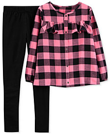 Carter's Baby Girls Checkered Top & Legging Set