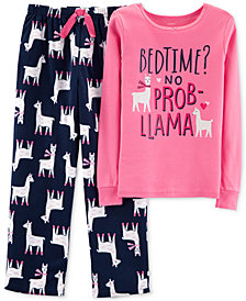 Carter's Little & Big Girls 2-Pc. No Prob-Llama Pajama Set