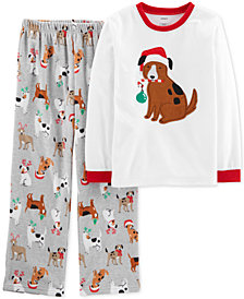 Carter's Little & Big 2-Pc. Boys Holiday Dog Pajamas