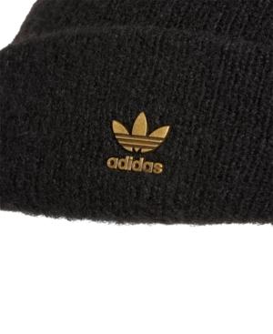 Adidas Originals ADIDAS ORIGINALS METALLIC-LOGO FUZZY BEANIE