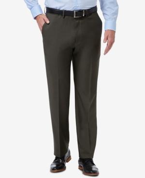 Men's Premium Comfort Stretch Classic-Fit Solid Flat Front Dress Pants