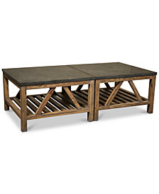 Breslin Bluestone Table Furniture, 2-Pc. Set (Two Bunching Coffee Tables)