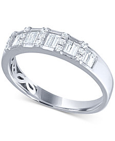 Diamond Baguette Wedding Band (3/8 ct. t.w.) in 14k White Gold