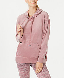 Ideology Velour Drop-Shoulder Hoodie, Created for Macy's