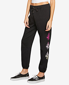Volcom Juniors' Stone Logo Fleece Pants