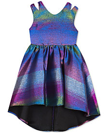 Rare Editions Little Girls Rainbow Metallic Jacquard Party Dress