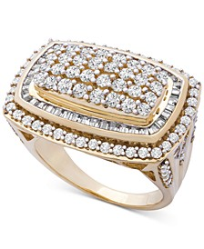 Diamond Cluster Statement Ring (2 ct. t.w.) in 14k Gold, Created for Macy's