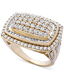 Wrapped in Love™ Diamond Cluster Statement Ring (2 ct. t.w.) in 14k Gold, Created for Macy's